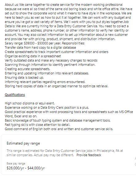 Data Entry Customer Service Jobs